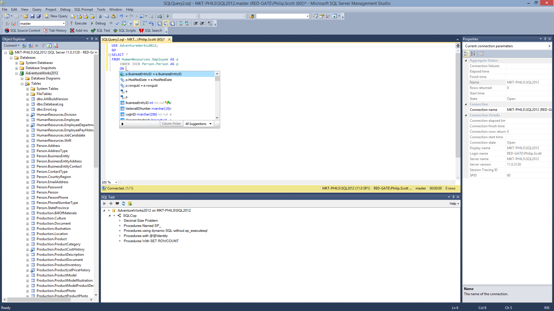 Customizing the SQLprompt