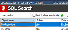 Impact analysis with SQL Search